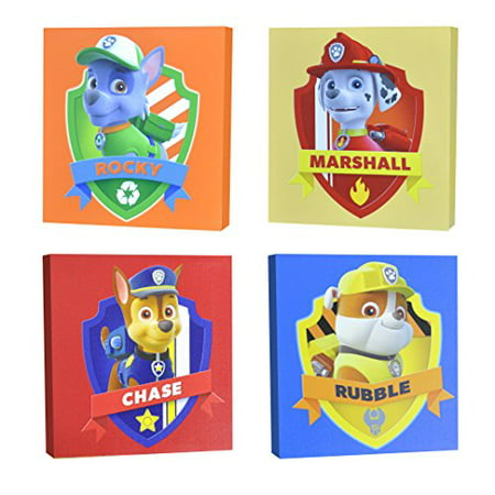Nickelodeon Paw Patrol Square Canvas Wall Art 11u0022 Toy (Pack of 4)