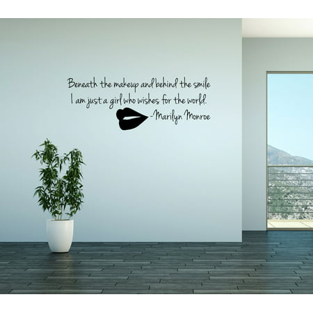 wall decal quote i am just a girl who wishes the world marilyn monroe (Mongo Just Pawn In Game Of Life Quote)