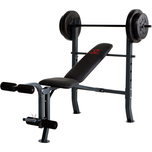 Marcy Diamond Weight Bench w/ 80lb Weight Set: MD-2080