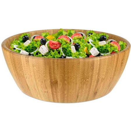 Extra Large Salad Bowl - Home Basics Bamboo Salad Bowl