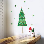 Trendy Peas Modern Christmas Tree Fabric Wall Decal