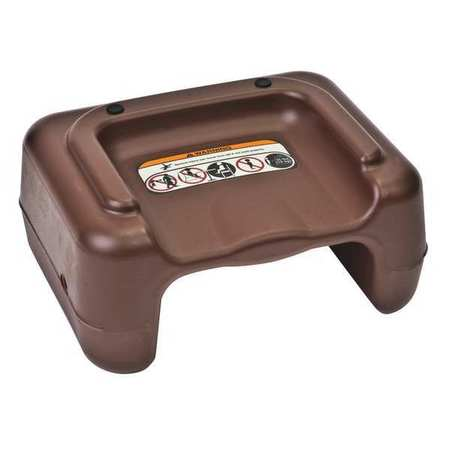 Plastic Booster Seat, Brown ,Csl Foodservice And Hospitality, 855BRN-1