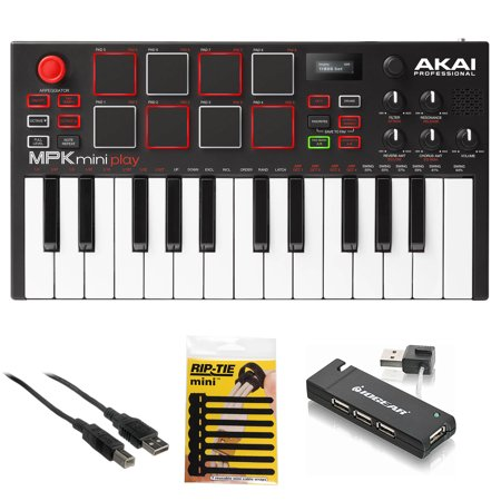 Pad Hub (Akai MPK Mini Play - Compact Keyboard & Pad Controller + USB Hub + Cable & More )