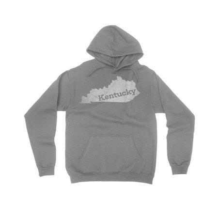 Small / Gray Kentucky Mens Sweatshirt Home State Hoodie