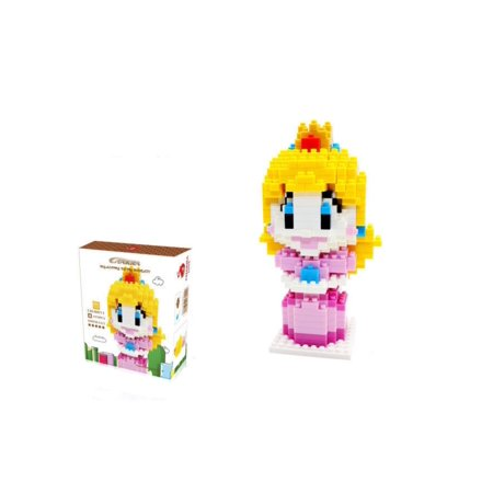 CHAKRA Game Super Mario Peach Princess DIY Diamond Mini Building Nano Block Toy(420) - Princess Peach Adult Games