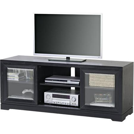 Homestar Black Sliding Door TV Stand