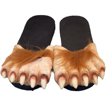 Billy Bob Werewolf Crazy Feet Costume Sandles, Brown Black, (Child's Billy Goat Costume)