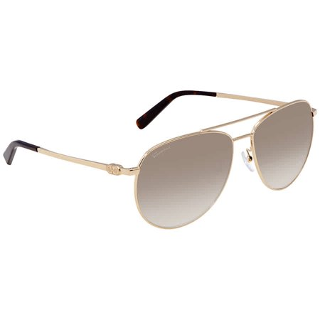 Ferragamo Grey Gradient Aviator Sunglasses SF157S 717 (Aviator Grey)