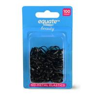 Equate Beauty No-Metal Elastics, 100 Count