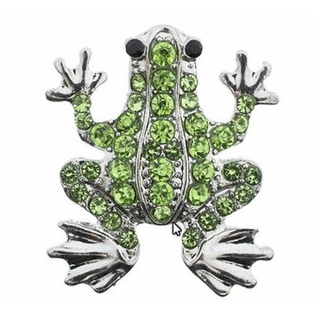 - Body Accentz 18mm Snap Charms Buttons Interchangeable Jewelry Ginger CZ Frog