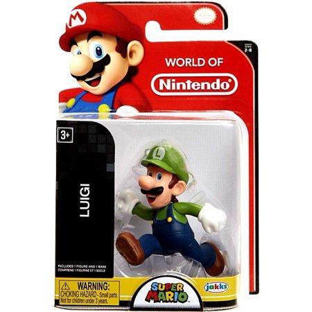 World of Nintendo Super Mario Luigi Mini Figure [Running]