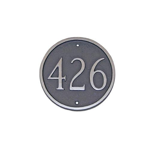Montague Metal Products Inc. Estate Circle Address Plaque
