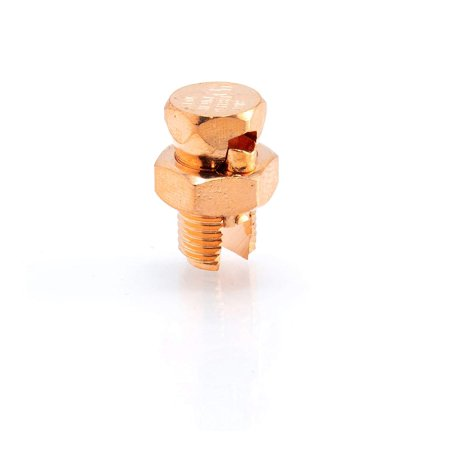 THE CIMPLE CO - Grounding Split Bolt | Superior Strength Split Bolt Connector Size 8 for Copper Conductors | US Manufactured - UL Listed |for: Antenna, Satellite, DIRECTV, CATV, and (8 Satellite Multiswitch)