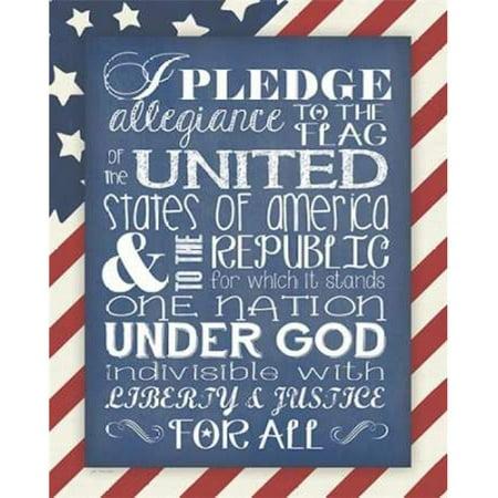 Sagebrush Fine Art Pdxjm11820small Flag Pledge Of Allegiance Poster Print By Jo Moulton  44  10 X 12   Small