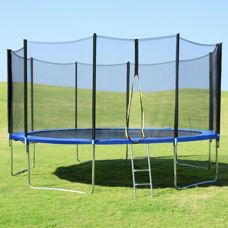 15FT Trampoline Combo Bounce Jump Safety Enclosure Net W/Spring Pad Ladder - image 9 of 10