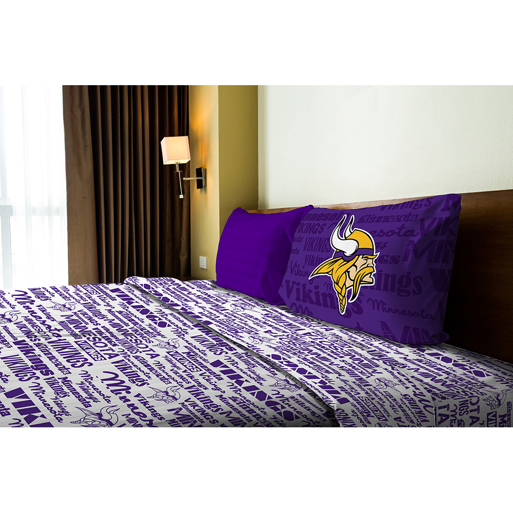 NFL Minnesota Vikings Sheet Set Football Anthem Bedding