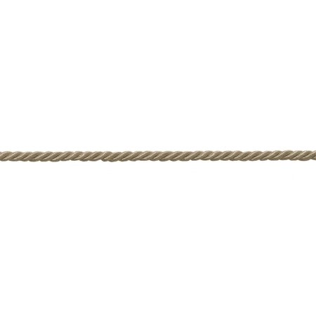 "Small 3/16"" Brass Beige Basic Trim Decorative Rope
