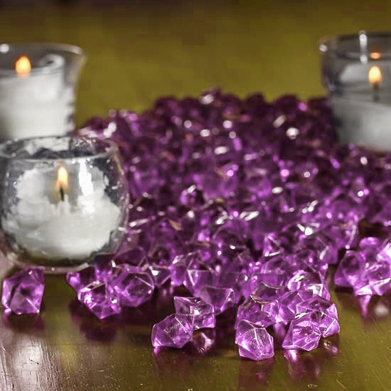 BalsaCircle 400 Acrylic Mini Ice Crystal Like Pieces - Wedding Party Table Vase Centerpieces Fillers Scatters Decorations