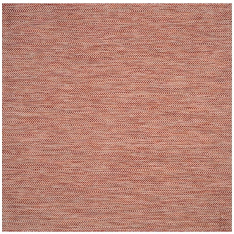 """Safavieh Courtyard 2'3"""" X 12' Power Loomed Rug in Red and Beige - image 4 of 7"""