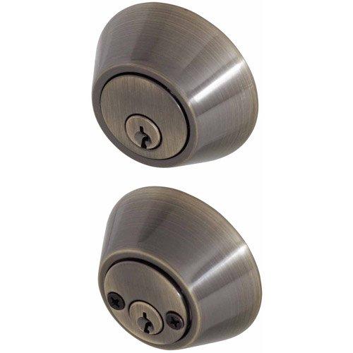 Honeywell Double Cylinder Deadbolt Door Lock, Antique Brass