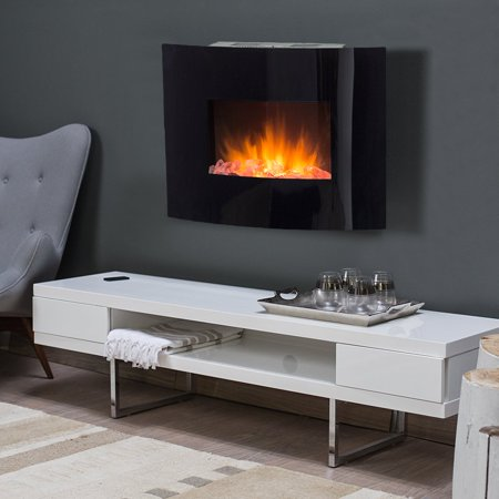 Pleasing Estate Design Springfield 24 In Curved Wall Mount Electric Fireplace Home Interior And Landscaping Ponolsignezvosmurscom