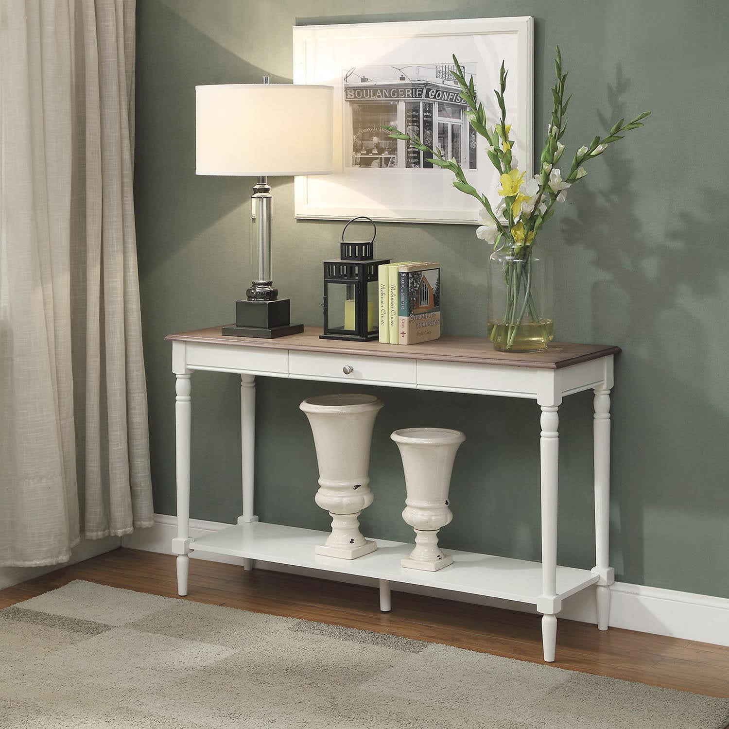 Convenience Concepts French Country Console Table with Drawer and Shelf by Overstock