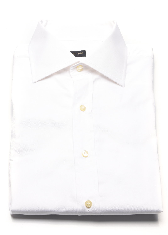 Valentino Valentino Men Regular Fit Cotton Dress Shirt White Size