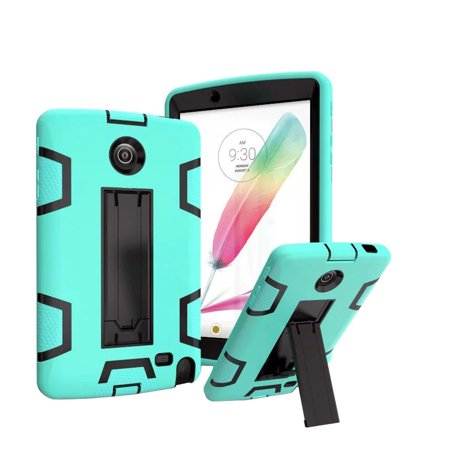 LG G Pad 2 8.0 /G Pad F 8.0 Case, UUcovers Dual Layer Rugged Shockproof [Corner Protection] Kids Full Protective Stand Case for LG G Pad II 8.0 V495 V496 V498, Aqua & Black