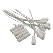 """50 pk White 3/8"""" Recessed Wired Security Alarm Door Window Switch Contact Magnet"""