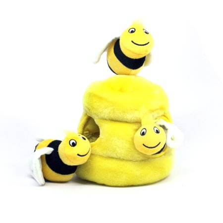 Hide a Bee Fun Hide and Seek Interactive Puzzle Plush Dog Toy by Outward