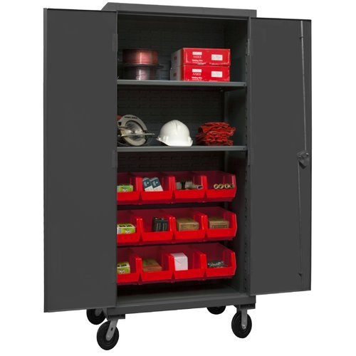 Durham Manufacturing 80'' H x 36'' W x 24'' D Lockable Mobile Cabinet