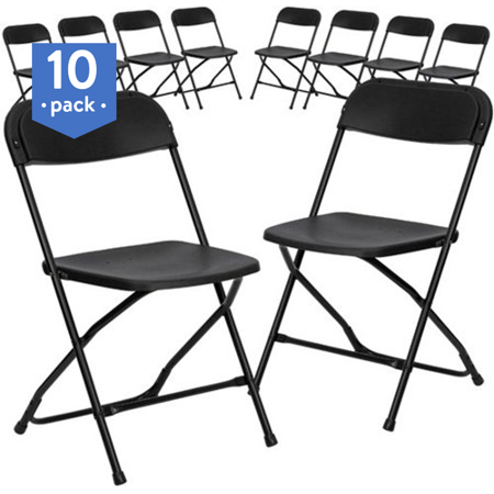 - Flash Furniture (10-Pack) HERCULES Series 800 lb Capacity Premium Plastic Folding Chair, Multiple Colors