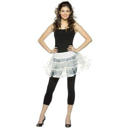 Halloween Accessories Teens White Crinoline Petticoat Teens sz 12-16 (Toddler Petticoats)