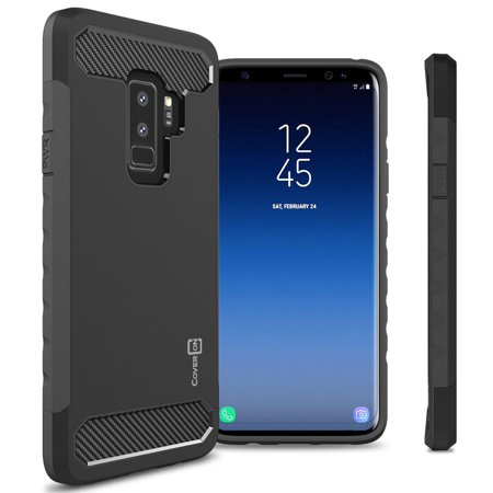 CoverON Samsung Galaxy S9 Plus Case, Arc Series Hybrid Phone Cover with Carbon Fiber Accents