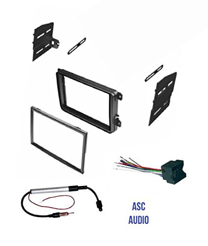 and Radio Remove Tool for installing a Double Din Radio for 2004 2005 2006 2007 2008 2009 2010 VW Volkswagen Touareg Touareg 2 Other ASC Audio Car Stereo Dash Kit Wire Harness Antenna Adapter