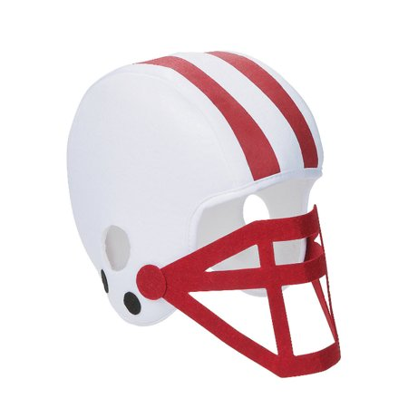 Foam Helmet (White And Burgundy Foam Football Helmet White And Burgundy Foam Football)