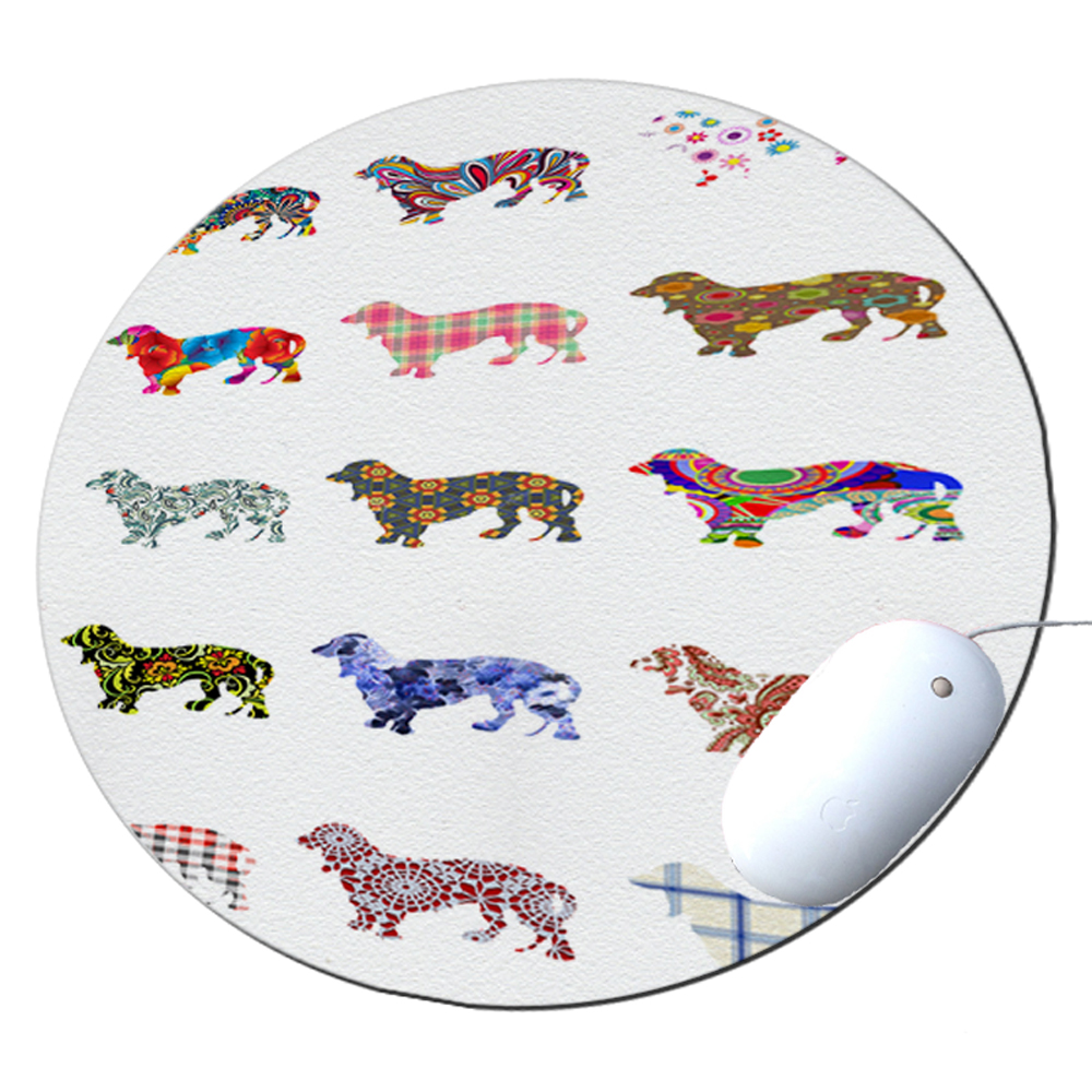 KuzmarK Round Mousepad / Hot Pad / Trivet - Daschund Dog