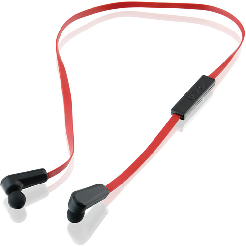 iLive IAEB34 Bluetoooth Earbuds with Microphone, Black/Red