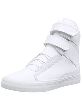 29001519344e Product Image Supra Men s Society II Hi Top Leather Fashion Sneaker Shoes  White Red S34185