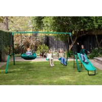 Magic Carpet Metal A-Frame Swing Set for 1 to 5 Children - ASTM Safety Approved