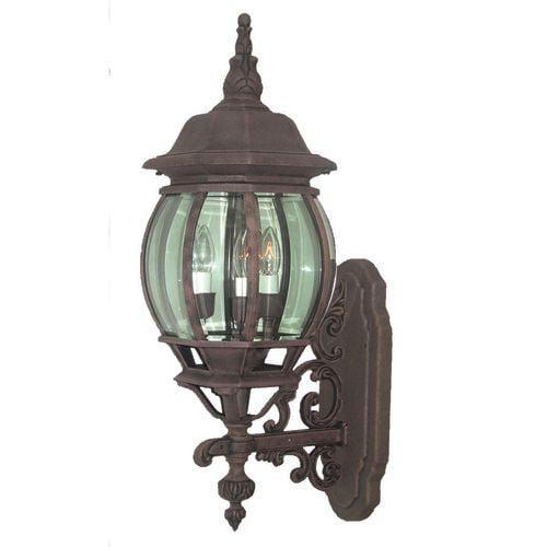 "Woodbridge Lighting 61004-RTP Basic Outdoor Single Light 7-1/2"" Wide Wall Sconce"