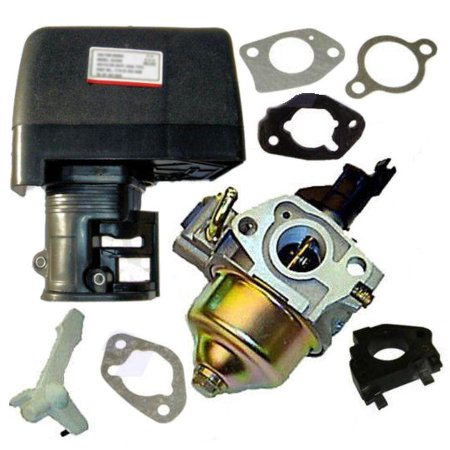 Fits Honda GX160 5.5HP Carburetor, Air Box and Gaskets For Honda 5.5 HP Gasoline Engines ()