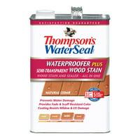 Thompson's WaterSeal Waterproofer Plus Semi-Transparent Wood Stain, Natural Cedar, 1 Gallon