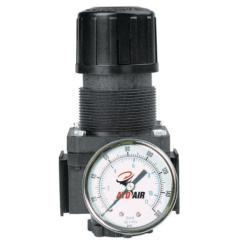 Rel Products, Inc. ATD-7843 Standard 1/4 Npt Air Regulator With Gauge, 50 Scfm