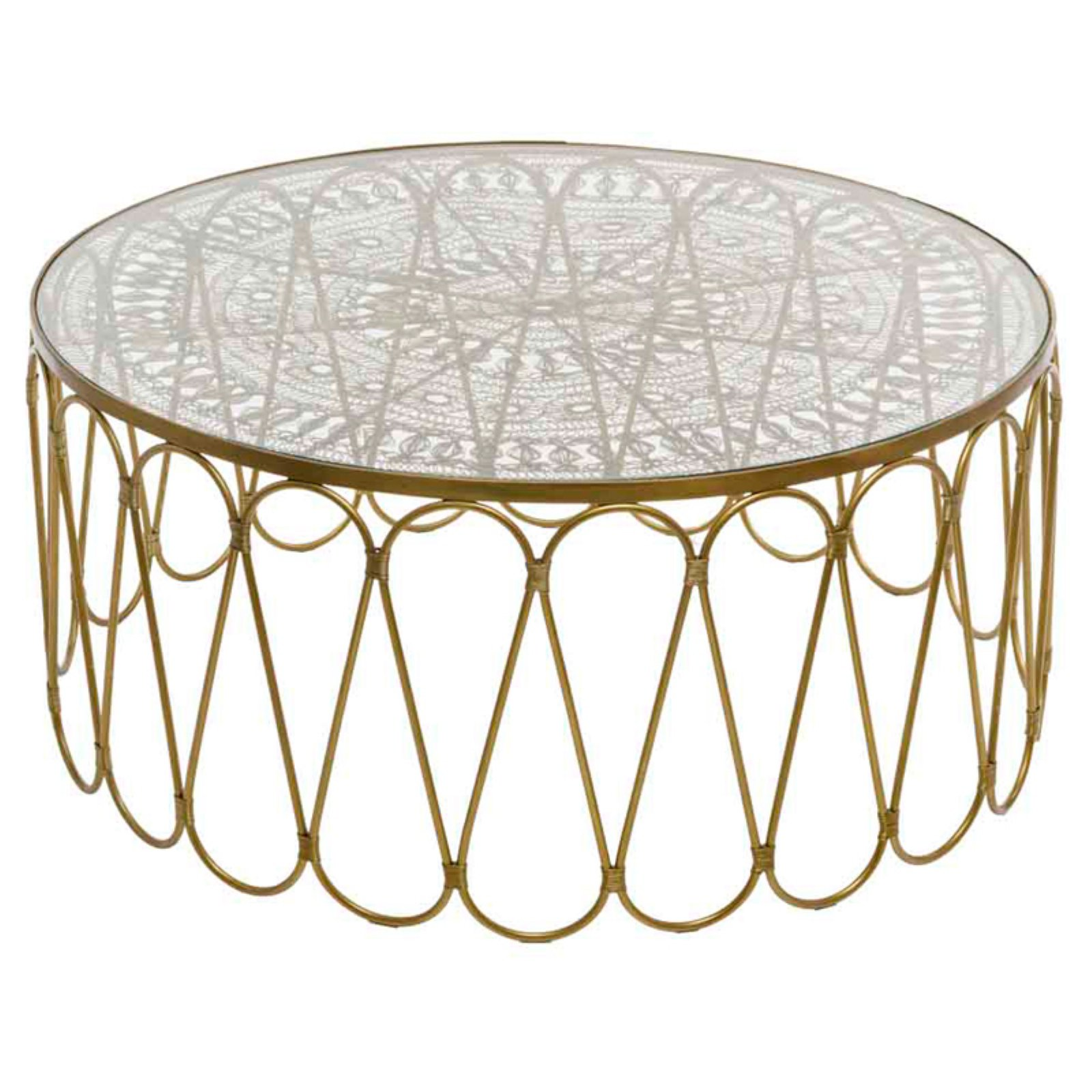 Modern Day Accents Alambre Wire Work Coffee Table