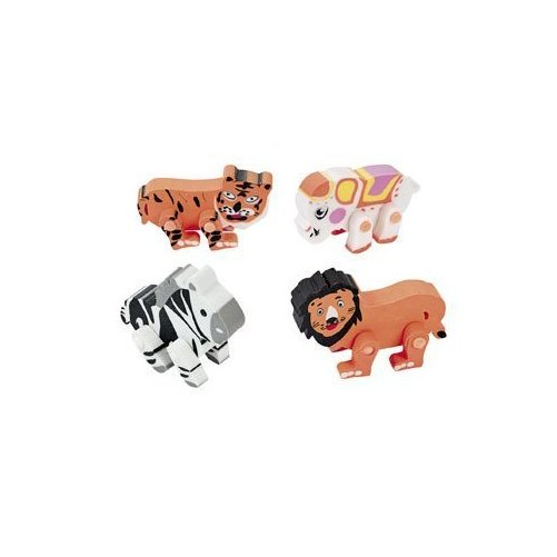 12 Movable Animal Erasers Basic School Supplies & Erasers & Pencil Toppers by Fun Express