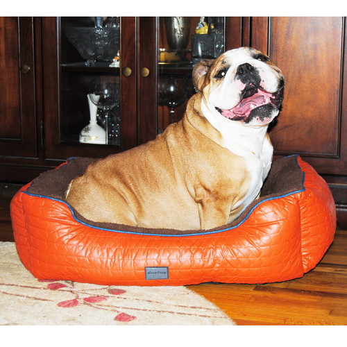 EZ Living Home Chevron Bolster Pet Bed