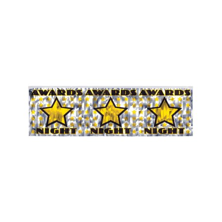 Awards Night Silver Fringe Celebration Party Banner Flag Decoration](Awards Night Decorations)