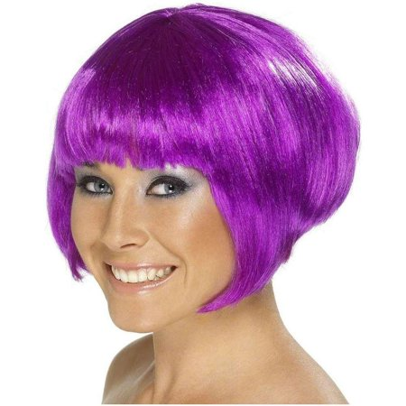 Babe Adult Costume Short Bob Purple Wig - Short Pink Wigs