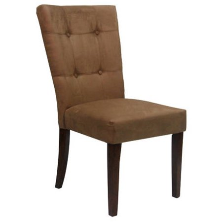button tufted side chair in microfiber set of 2